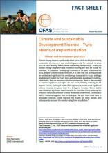Cover CFAS Fact Sheet Climate and Sustainable Development Finance – Twin Means of Implementation