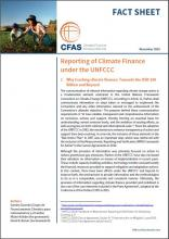 Cover FACT SHEET Reporting of Climate Finance under the UNFCCC