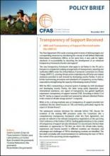 Cover CFAS Policy Brief Transparency of Support Received
