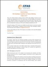 Cover Daily Briefing 15th SCF Meeting