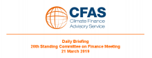 Daily Briefing 20th Standing Committee on Finance Meeting 21 March 2019