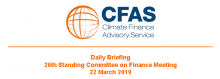 Daily Briefing 20th Standing Committee on Finance Meeting 22 March 2019