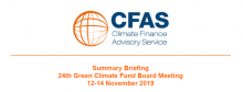Summary Briefing 24th Green Climate Fund Board Meeting