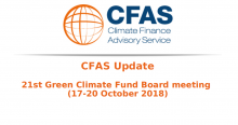 CFAS Update 21st Green Climate Fund Board meeting